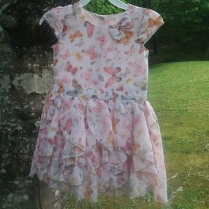 Occasion peach butterfly dress